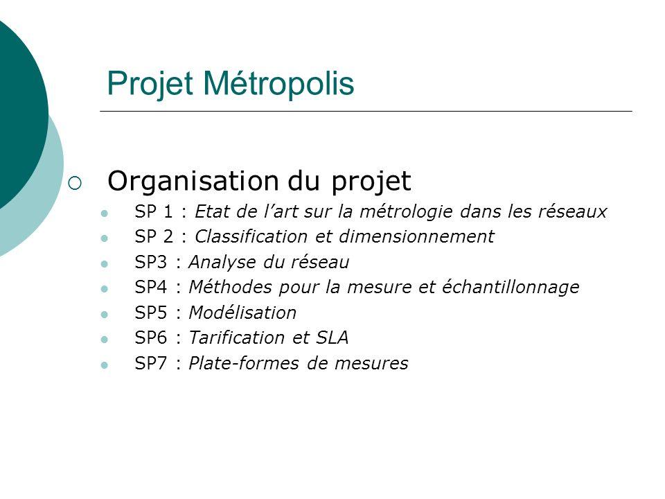 Projet Métropolis Organisation du projet