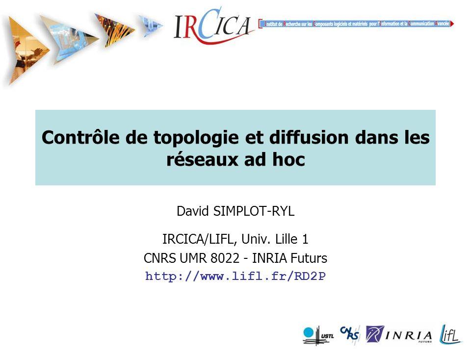 Contrôle de topologie et diffusion dans les réseaux ad hoc