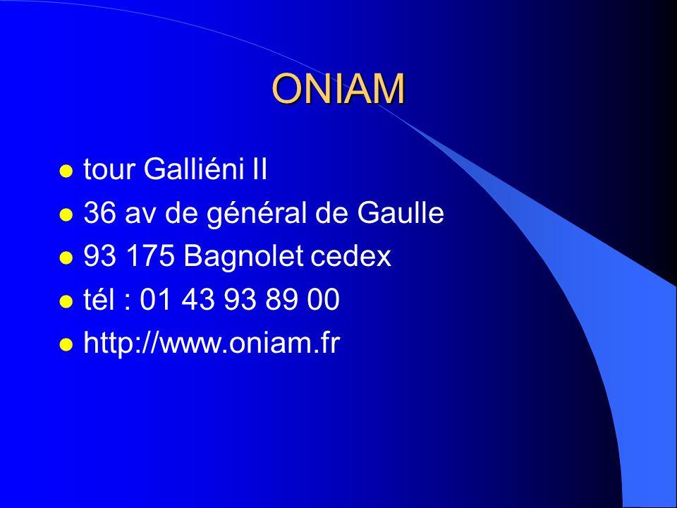ONIAM tour Galliéni II 36 av de général de Gaulle