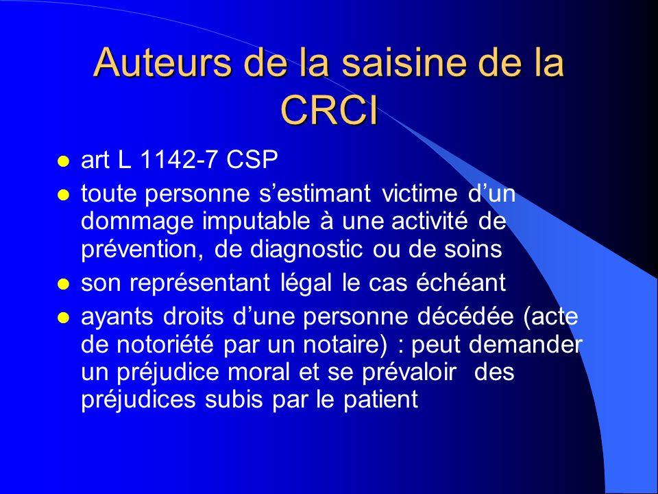 Auteurs de la saisine de la CRCI