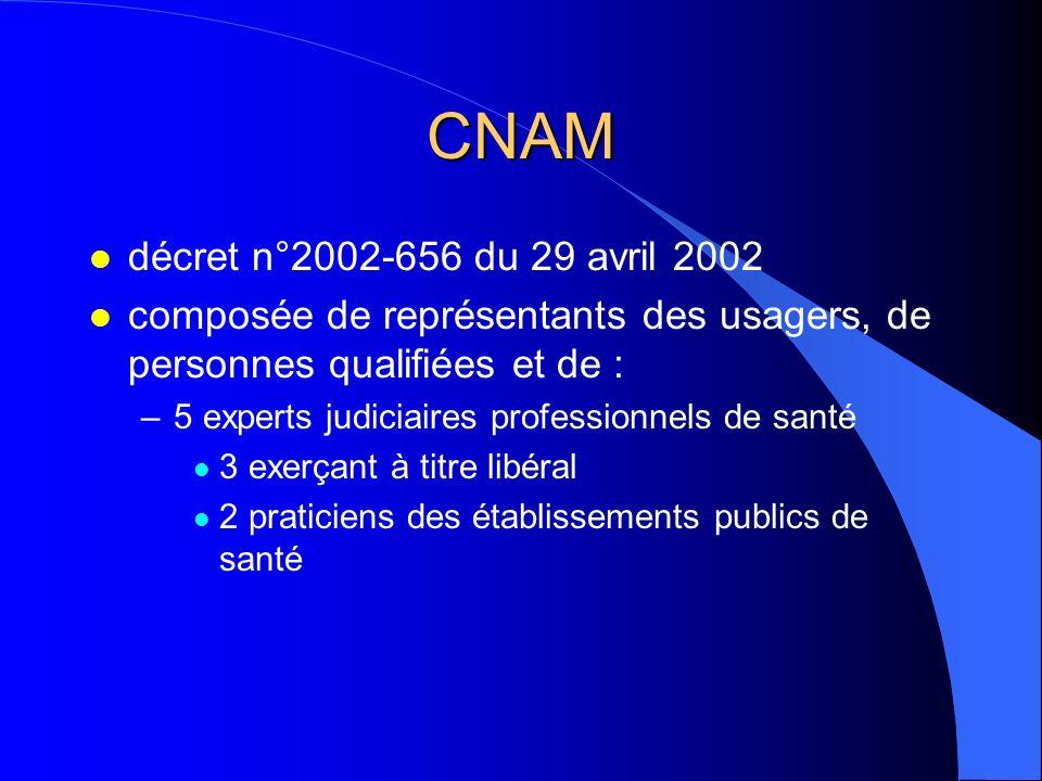CNAM décret n°2002-656 du 29 avril 2002