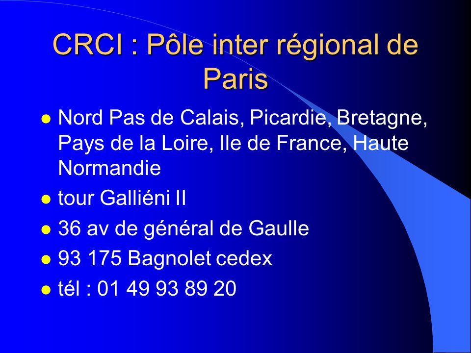CRCI : Pôle inter régional de Paris