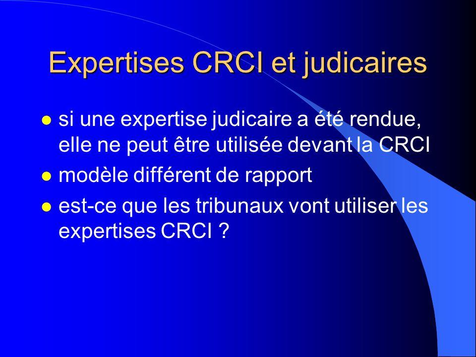 Expertises CRCI et judicaires