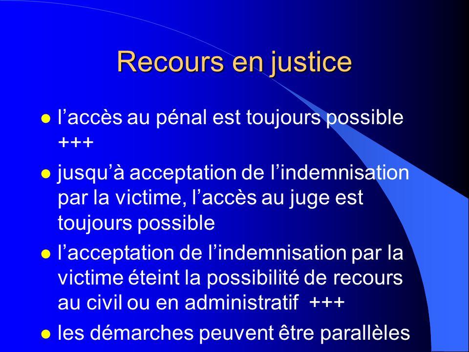 Recours en justice l'accès au pénal est toujours possible +++