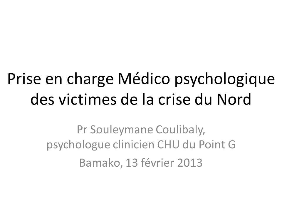 Prise en charge Médico psychologique des victimes de la crise du Nord