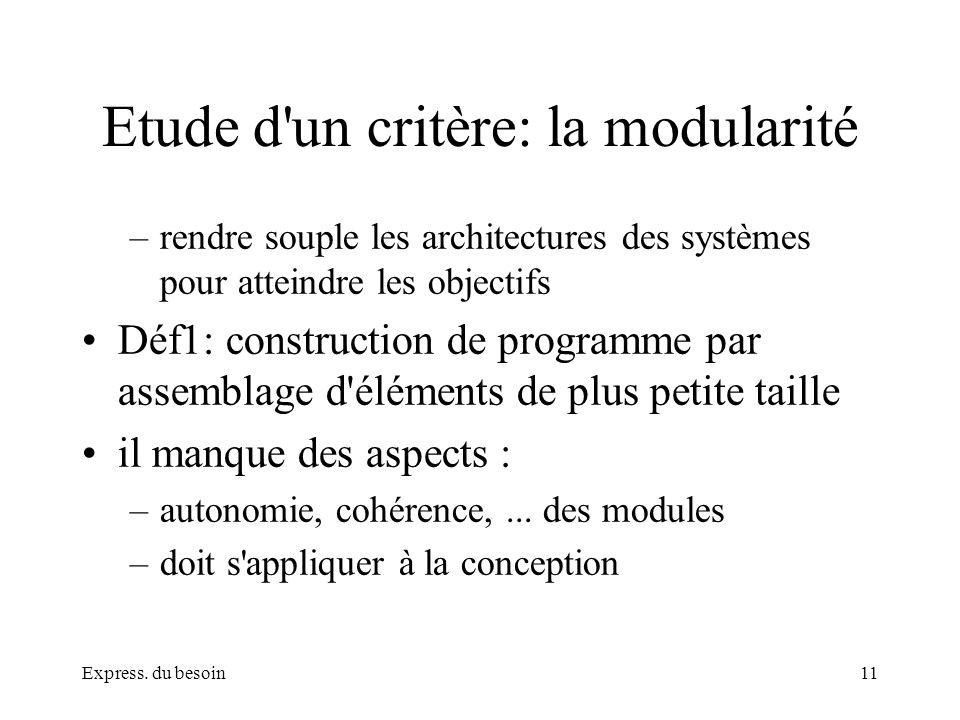 Etude d un critère: la modularité