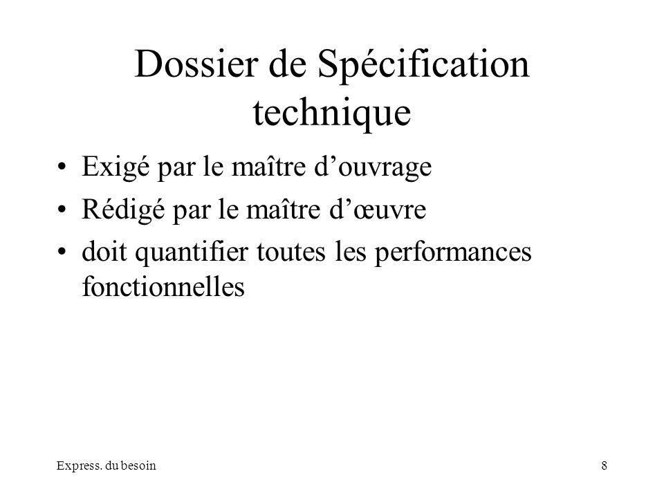 Dossier de Spécification technique