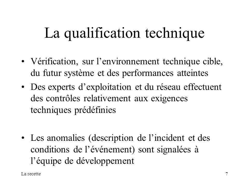 La qualification technique