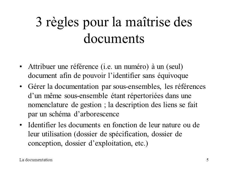 3 règles pour la maîtrise des documents