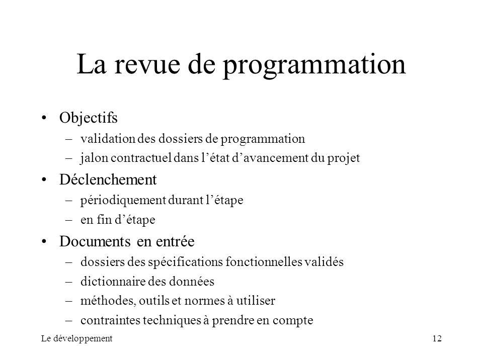 La revue de programmation