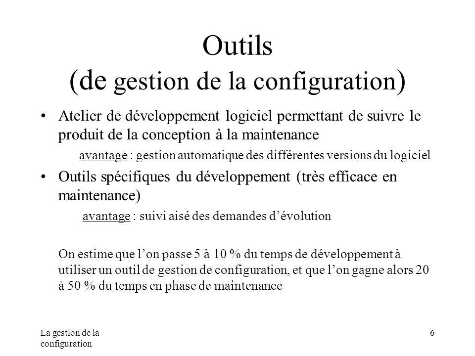 Outils (de gestion de la configuration)