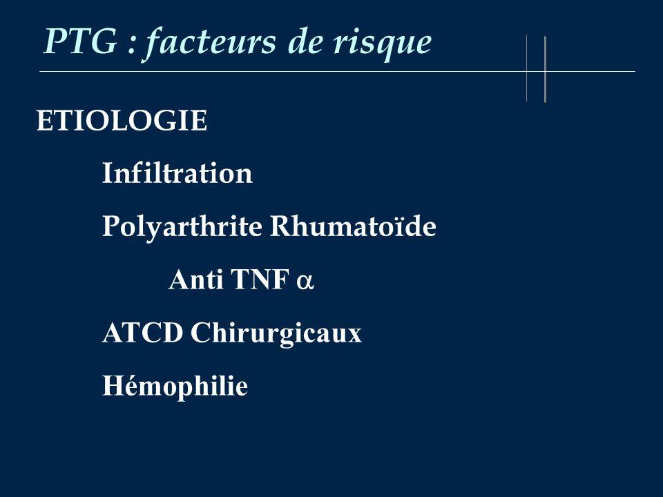 PTG : facteurs de risque