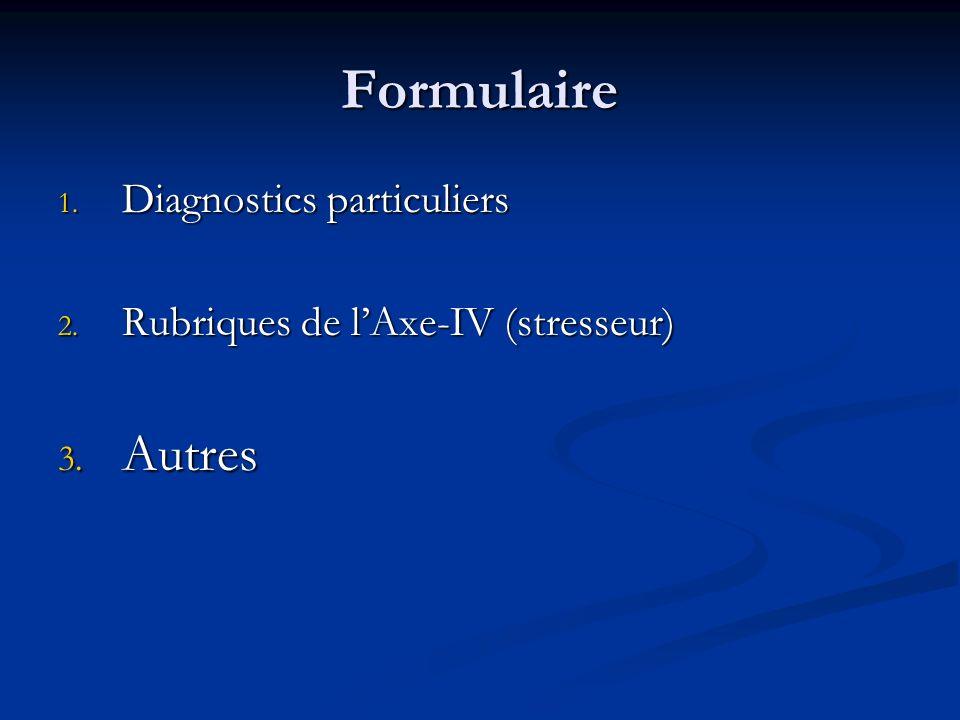 Formulaire Autres Diagnostics particuliers
