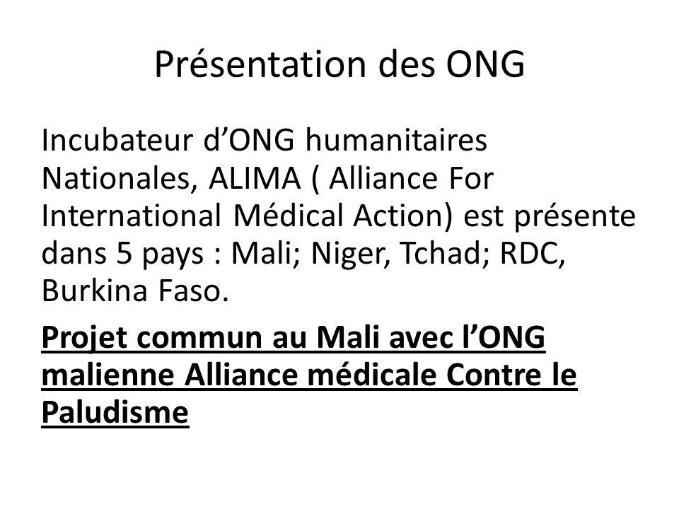 Présentation des ONG