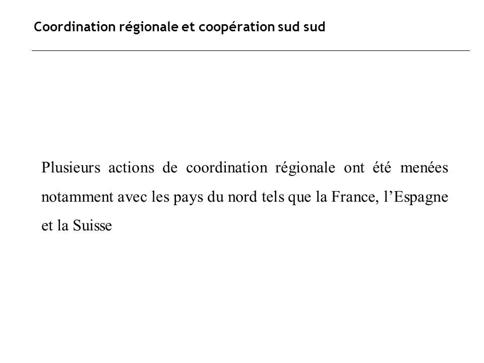 Coordination régionale et coopération sud sud