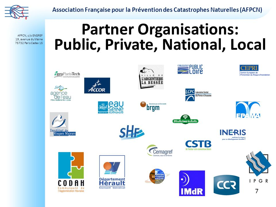 Partner Organisations: Public, Private, National, Local