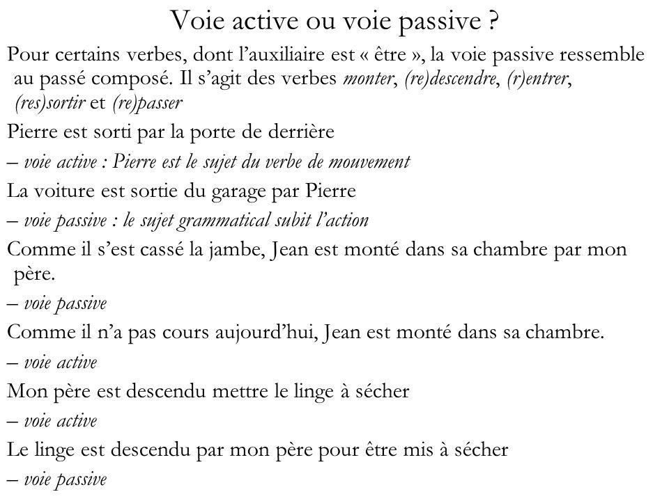 Voie active ou voie passive
