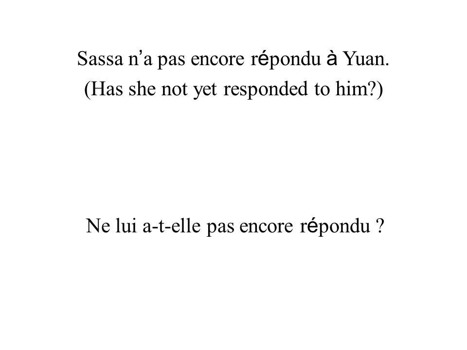 Sassa n'a pas encore répondu à Yuan.