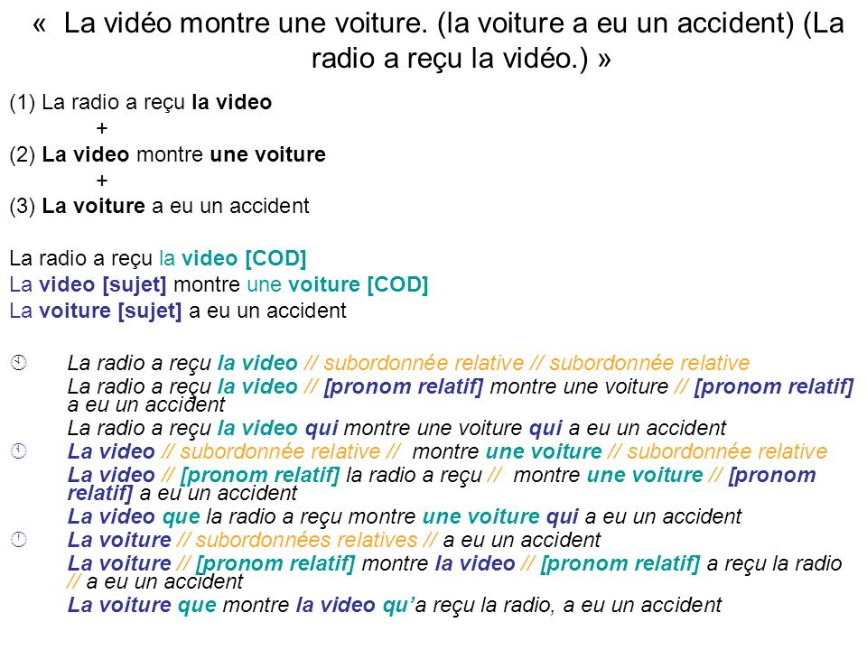 « La vidéo montre une voiture