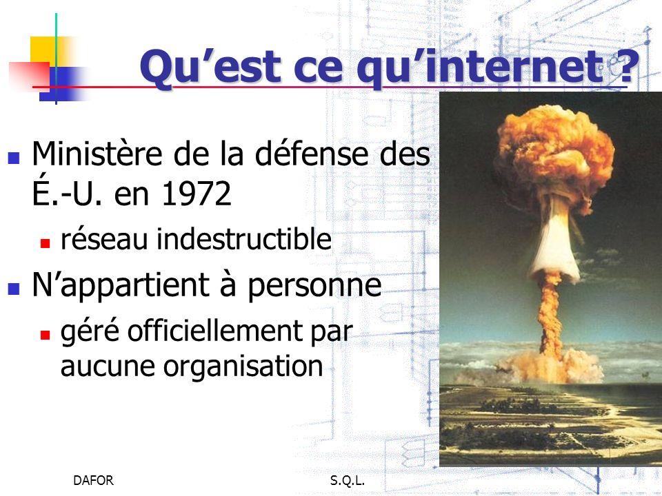 Qu'est ce qu'internet Ministère de la défense des É.-U. en 1972