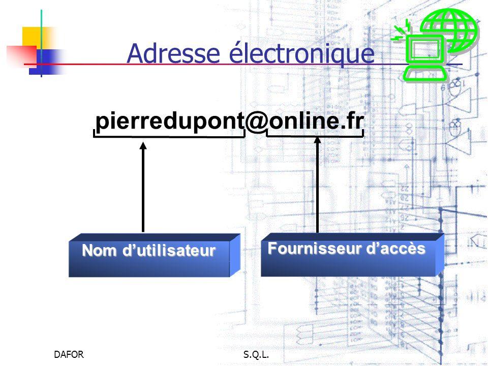 Adresse électronique pierredupont@online.fr Fournisseur d'accès