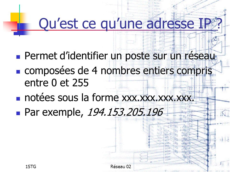 Qu'est ce qu'une adresse IP