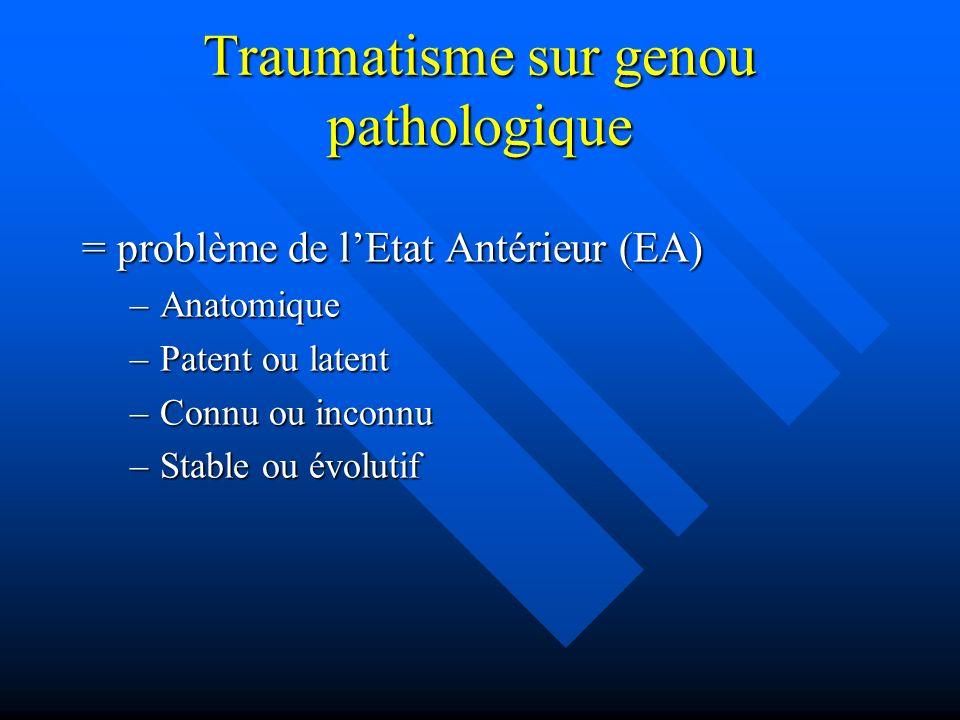 Traumatisme sur genou pathologique