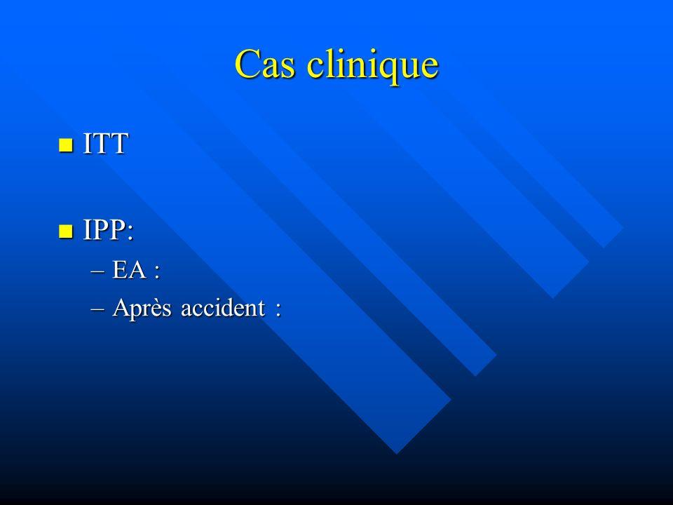 Cas clinique ITT IPP: EA : Après accident :