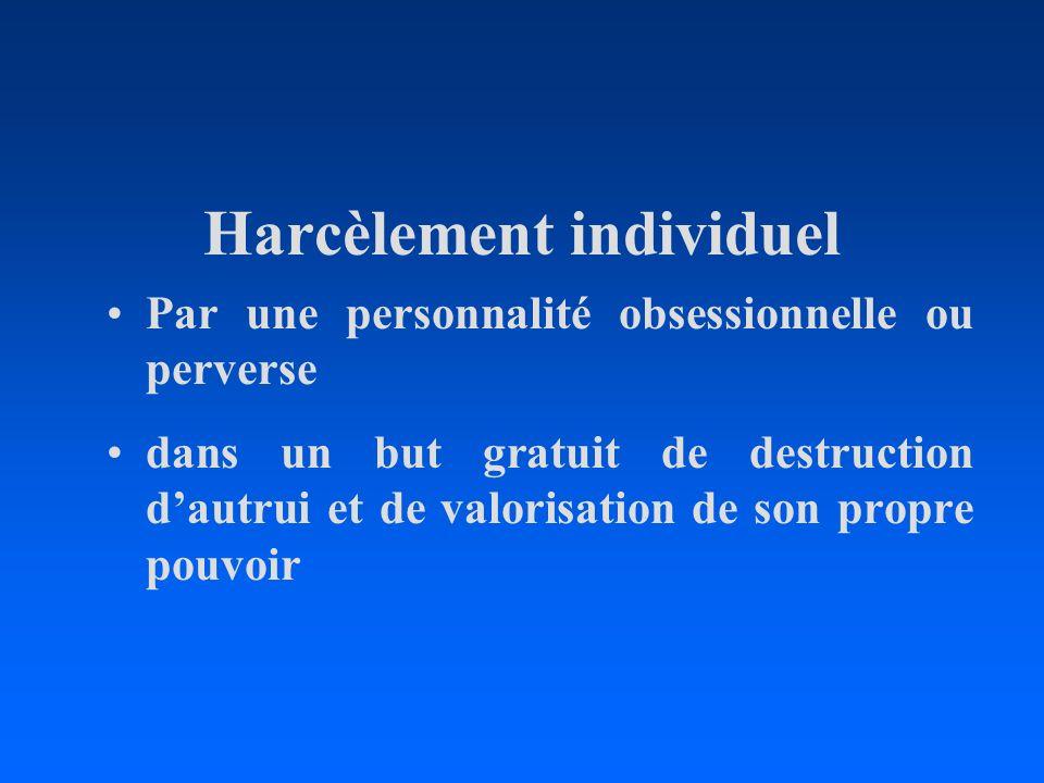 Harcèlement individuel
