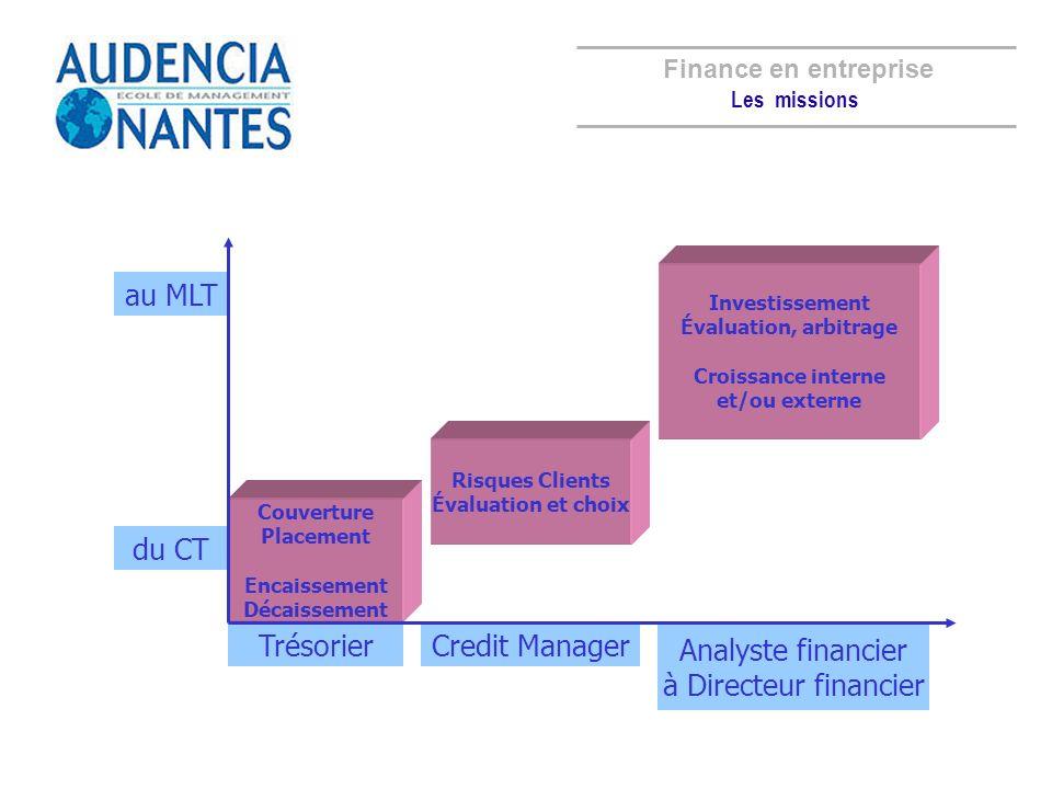 Finance en entreprise Analyste financier à Directeur financier au MLT