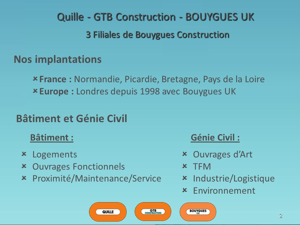 Quille - GTB Construction - BOUYGUES UK