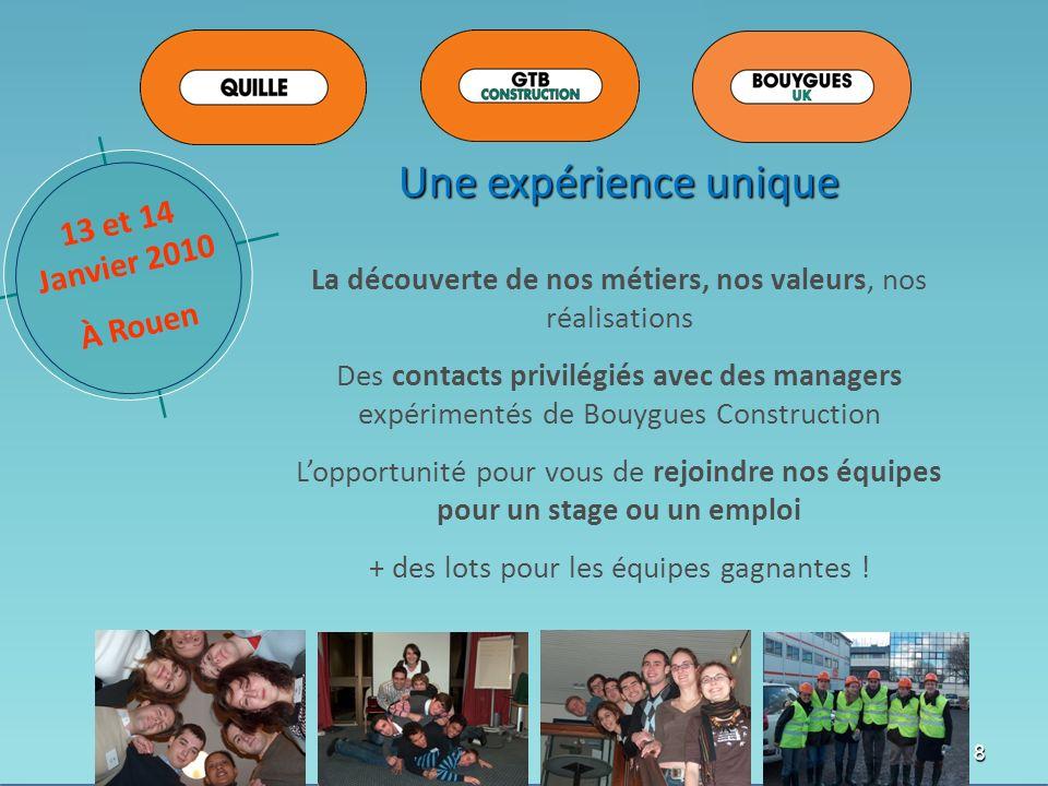 Une expérience unique 13 et 14 Janvier 2010 À Rouen