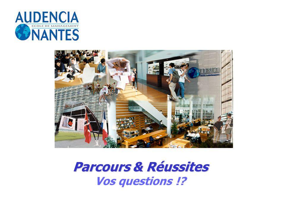Parcours & Réussites Vos questions !