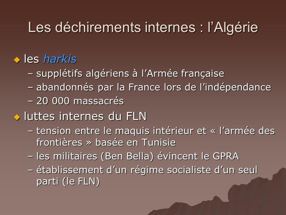 Les déchirements internes : l'Algérie