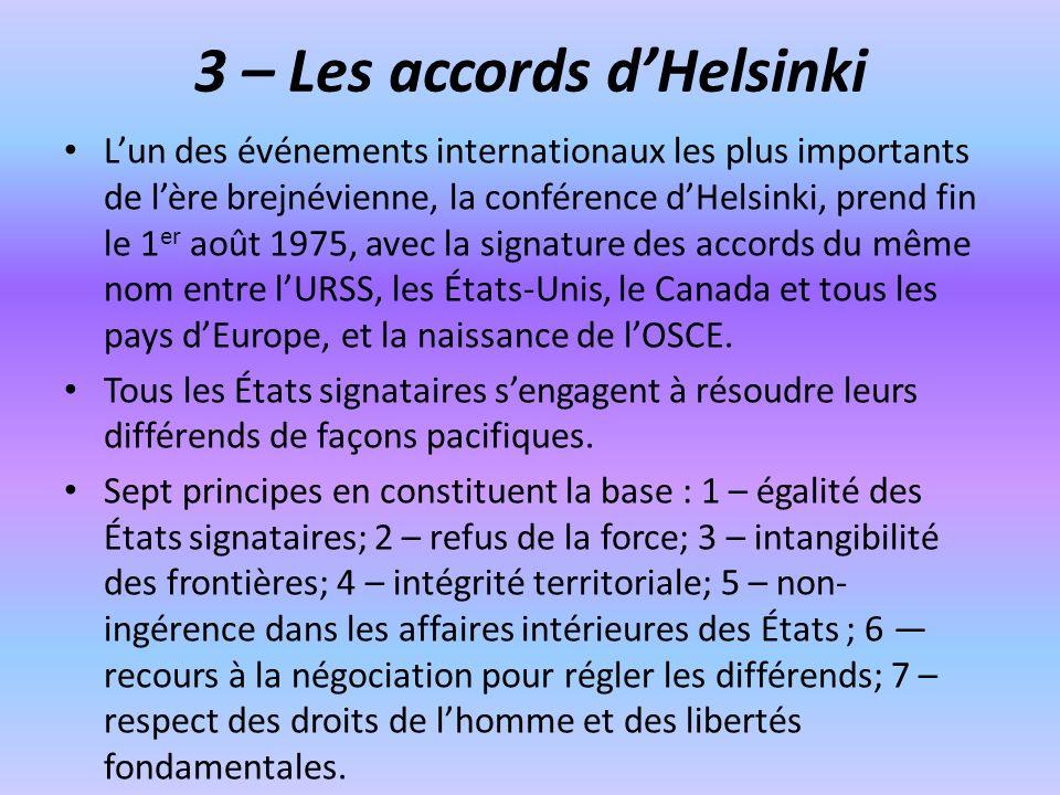 3 – Les accords d'Helsinki