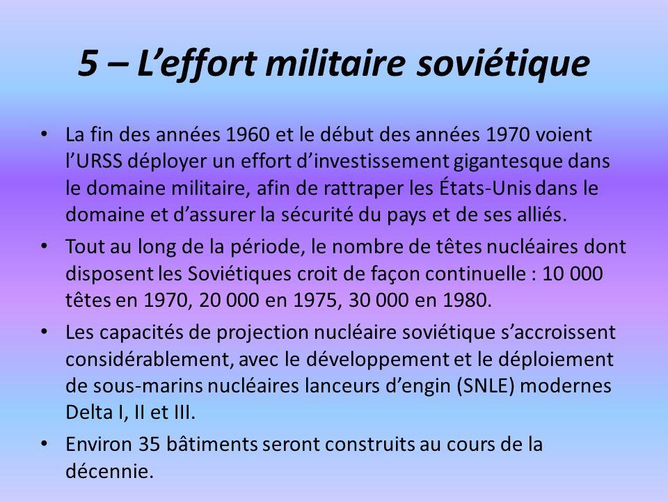 5 – L'effort militaire soviétique