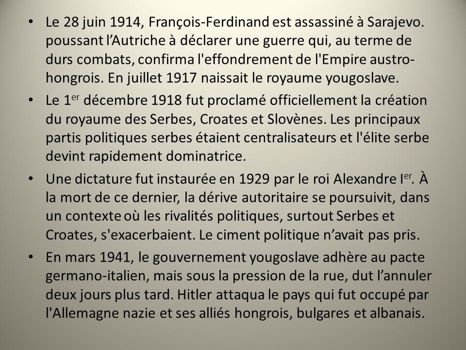 Le 28 juin 1914, François-Ferdinand est assassiné à Sarajevo