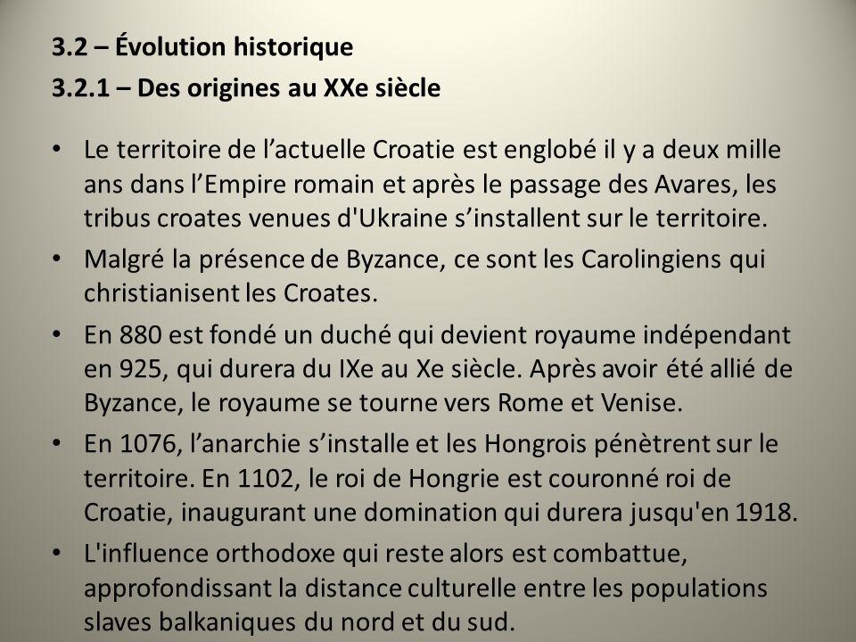 3.2 – Évolution historique
