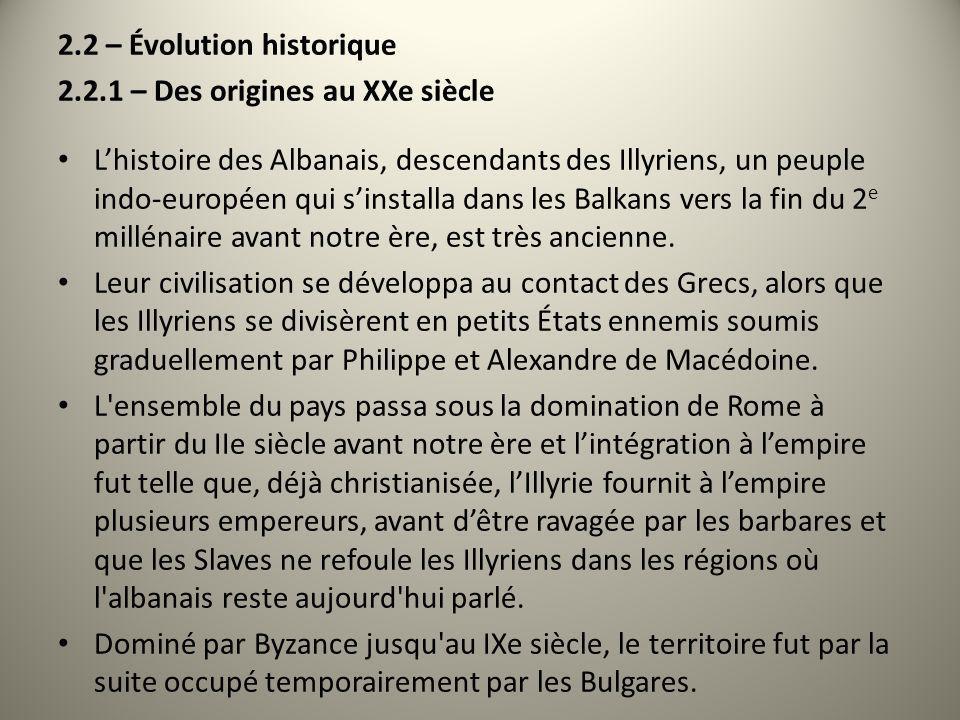 2.2 – Évolution historique
