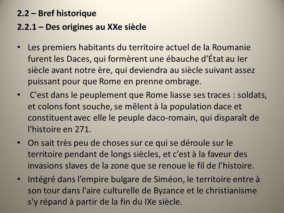 2.2 – Bref historique 2.2.1 – Des origines au XXe siècle.
