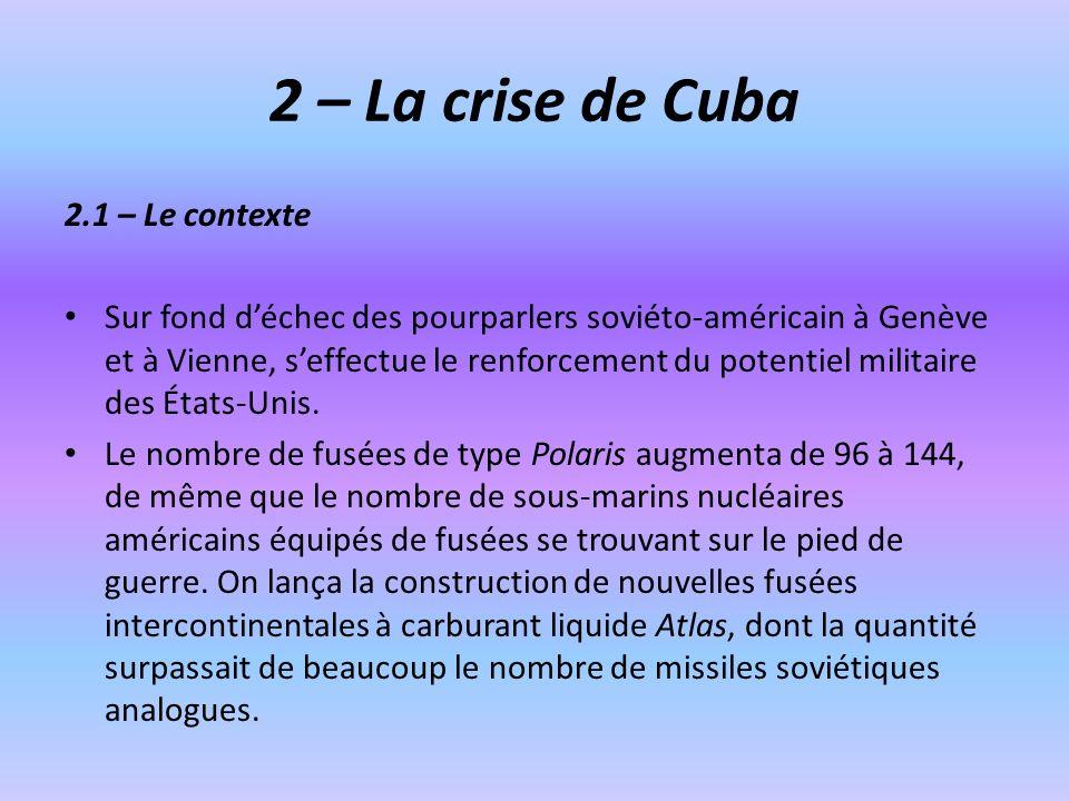 2 – La crise de Cuba 2.1 – Le contexte