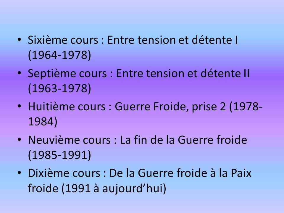 Sixième cours : Entre tension et détente I (1964-1978)