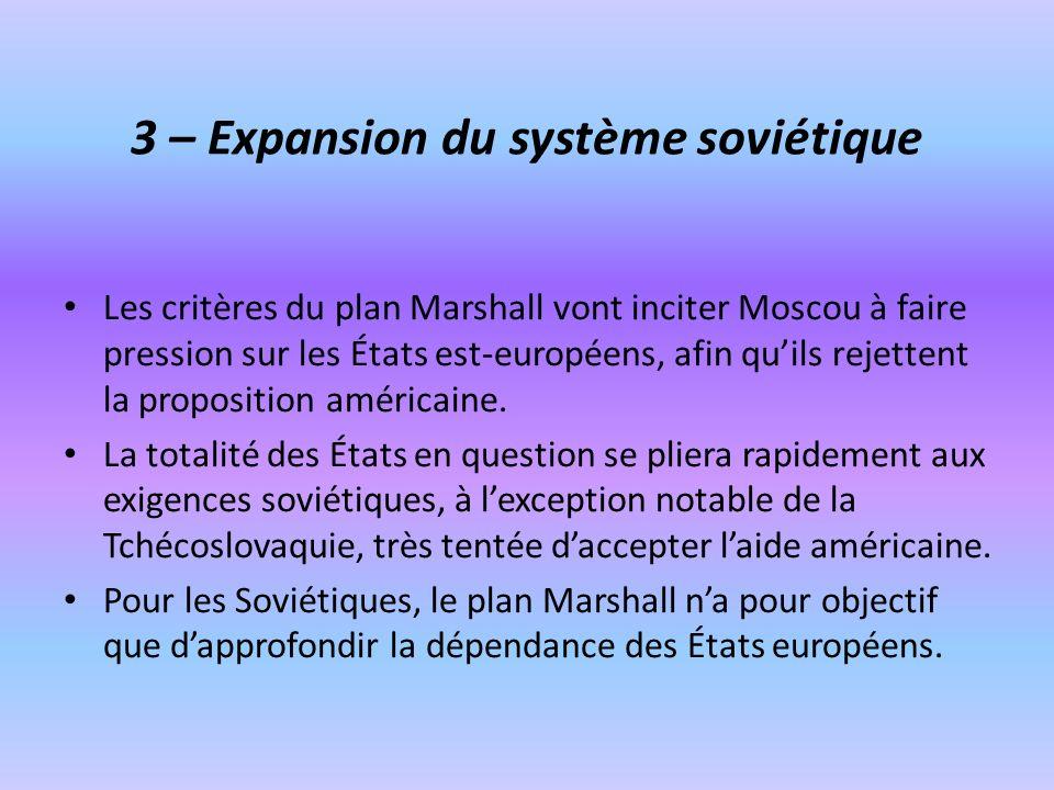 3 – Expansion du système soviétique