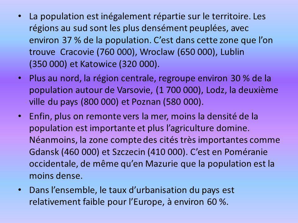 La population est inégalement répartie sur le territoire