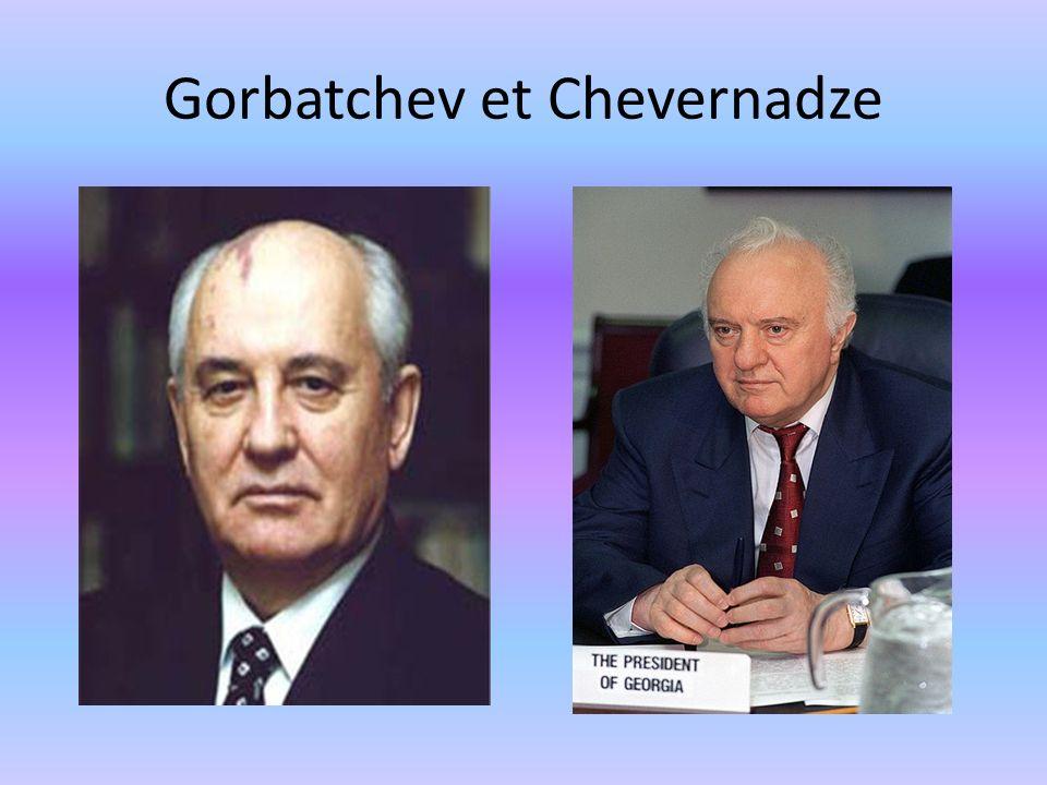 Gorbatchev et Chevernadze