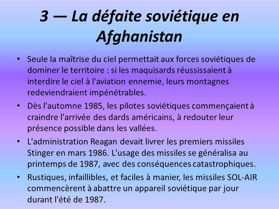 3 — La défaite soviétique en Afghanistan