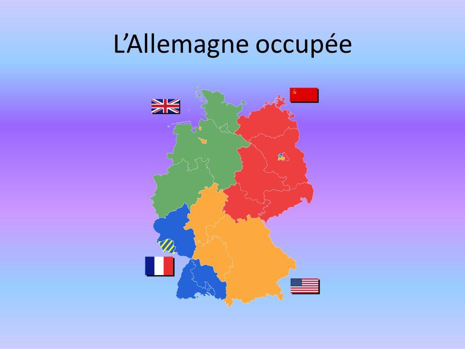L'Allemagne occupée