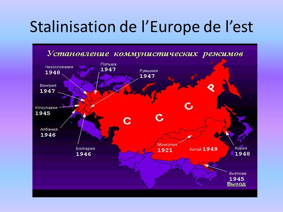 Stalinisation de l'Europe de l'est