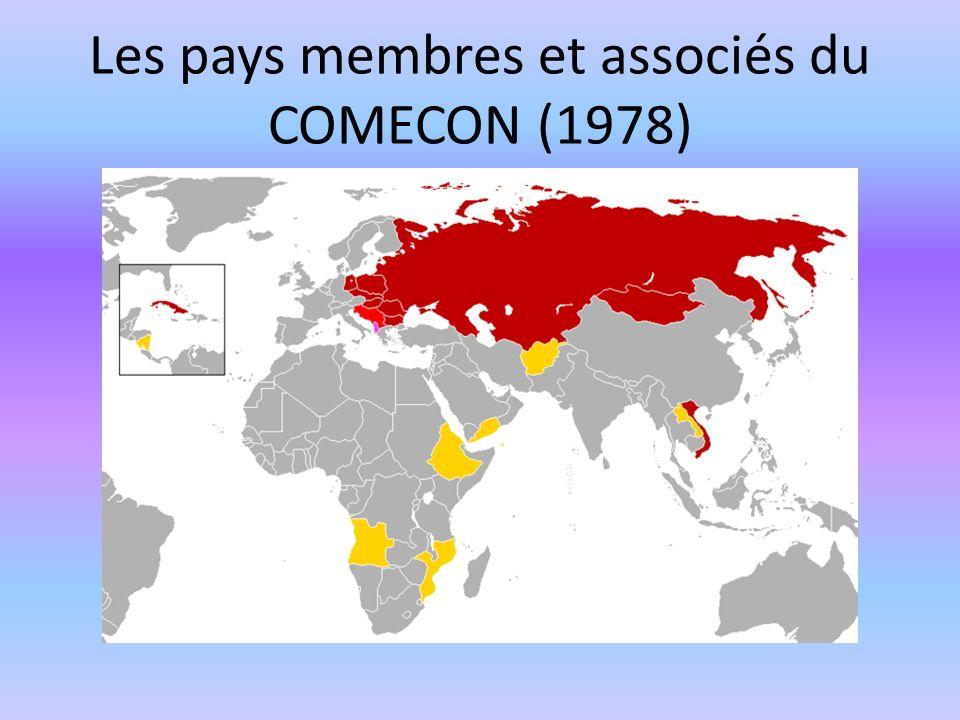 Les pays membres et associés du COMECON (1978)