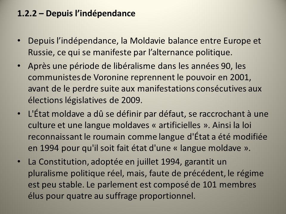 1.2.2 – Depuis l'indépendance